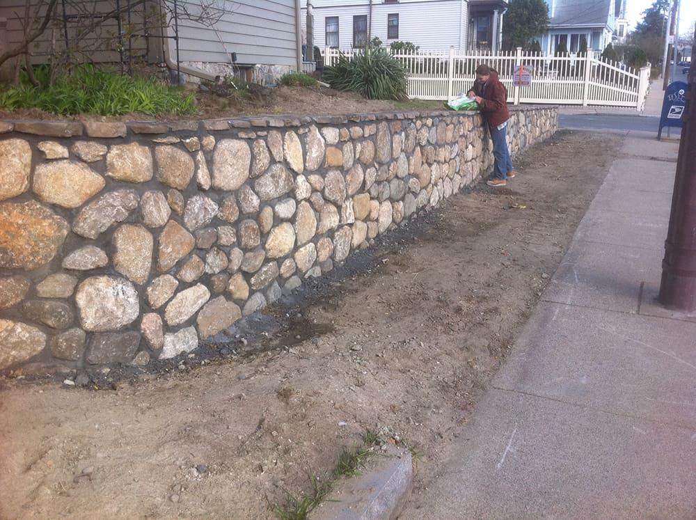Landscape Garden Retaining Wall